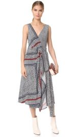Derek Lam 10 Crosby Wrap Dress with Pleating at Shopbop