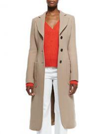Derek Lam Brushed Double-Face Crepe Coat at Neiman Marcus