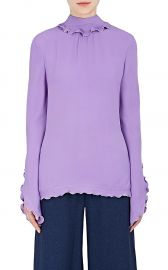 Derek Lam Ruffled Silk Tieneck Blouse at Barneys