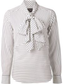 Derek Lam Striped Pussy Bow Blouse - at Farfetch