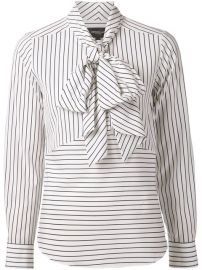 Derek Lam Striped Pussy Bow Blouse at Farfetch