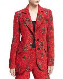 Derek Lam Velvet Floral Jacquard Blazer at Bergdorf Goodman