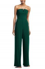 Dessy Collection Strapless Crepe Jumpsuit   Nordstrom at Nordstrom