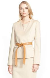 Detroit Belted Camel Hair Jacket by Max Mara  at Nordstrom