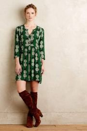 Devery Shirtdress in Green at Anthropologie