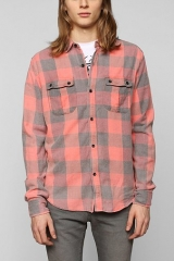 Devils Harvest Washed Buffalo Plaid Button-Down Shirt at Urban Outfitters