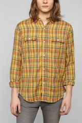 Devils Harvest Yellow Plaid Shirt at Urban Outfitters