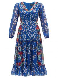 Devon Floral Silk Dress by Saloni at Matches
