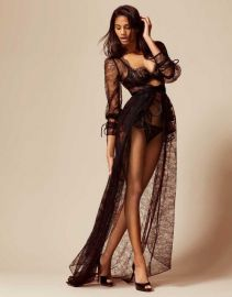 Deziree Gown And Bustle Black at Agent Provocateur