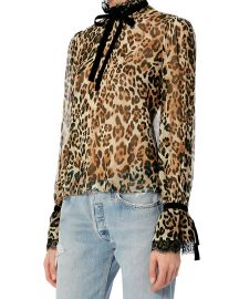 Dia Leopard Print Blouse by Exclusive for Intermix at Intermix