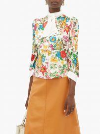 Dia floral-print silk blouse at Matches