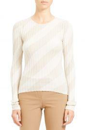 Diagonal Stripe Intarsia Silk Sweater at Nordstrom