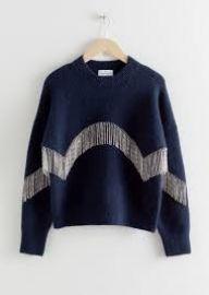 Diamanté Fringe Sweater at & Other Stories
