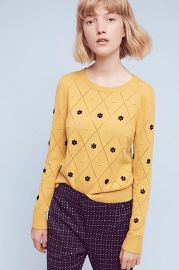 Diamond Daisy Pullover at Anthropologie