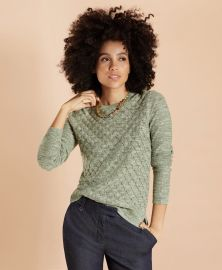 Diamond Pointelle Sweater at Brooks Brothers