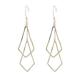 Diamond Shape Chime Earrings at Peggy Li