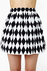 Diamond skater skirt at Nasty Gal