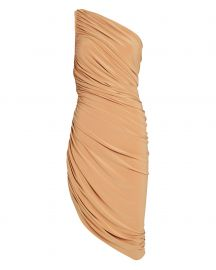 Diana Ruched One-Shoulder Dress at Intermix