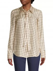 Diana Tie-Neck Silk Blouse at Saks Fifth Avenue