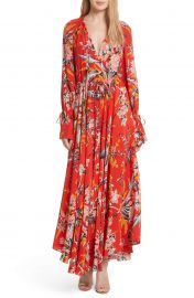Diane von Furstenberg Floral Silk Maxi Dress at Nordstrom