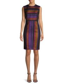 Diane von Furstenberg Metallic Striped Sheath Dress at Saks Fifth Avenue
