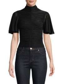 Diane von Furstenberg Mock Neck Ruched Blouse at Saks Fifth Avenue