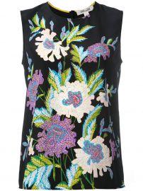 Diane Von Furstenberg Floral print sleeveless blouse  at Farfetch