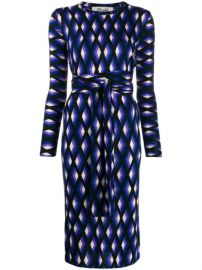 Diane Von Furstenberg Geometric Print Midi Dress - Farfetch at Farfetch