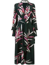 Diane Von Furstenberg Plunge Wrap Front Dress  - Farfetch at Farfetch