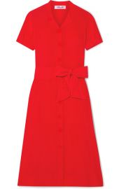 Diane von Furstenberg - Addilyn silk crepe de chine midi dress at Net A Porter