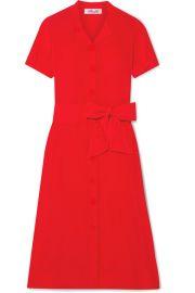 Diane von Furstenberg - Addilyn silk crepe de chine midi dress at Net A Porter
