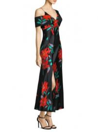Diane von Furstenberg - Asymmetric Floral-Print Dress at Saks Fifth Avenue