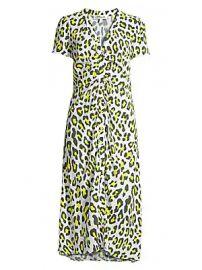 Diane von Furstenberg - Cecilia Leopard Short-Sleeve Midi Dress at Saks Fifth Avenue