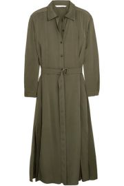 Diane von Furstenberg - Clarise silk-blend shirt dress at Net A Porter
