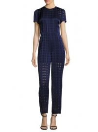 Diane von Furstenberg - Cropped Flared Jumpsuit at Saks Fifth Avenue