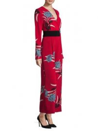 Diane von Furstenberg - Crossover Floral Jumpsuit at Saks Fifth Avenue