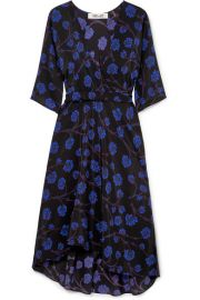 Diane von Furstenberg - Eloise asymmetric printed silk crepe de chine wrap dress at Net A Porter