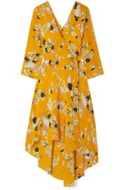 Diane von Furstenberg   Eloise floral-print silk wrap dress at Net A Porter