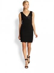 Diane von Furstenberg - Glenda Leather-Accented Dress at Saks Fifth Avenue