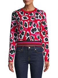 Diane von Furstenberg - Harrison Printed Wool-Blend Sweater at Saks Off 5th