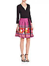 Diane von Furstenberg - Jewel Printed Wrap Dress at Saks Off 5th