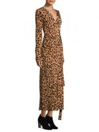Diane von Furstenberg - Leopard Silk Wrap Dress at Saks Fifth Avenue