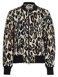 Diane von Furstenberg - Lon Leopard Bomber Jacket at Saks Fifth Avenue