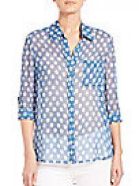 Diane von Furstenberg - Lorelei Two Silk Shirt at Saks Off 5th