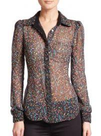 Diane von Furstenberg - Mariah Printed Silk Blouse at Saks Off 5th