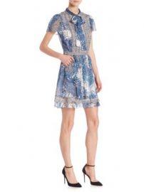 Diane von Furstenberg - Marisa Silk Tie-Neck Dress at Saks Off 5th