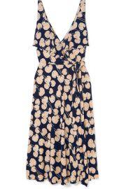 Diane von Furstenberg - Naya ruffled printed silk-jersey wrap dress at Net A Porter