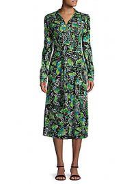Diane von Furstenberg - Phoenix Floral Wrap Dress at Saks Off 5th