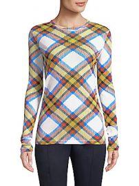 Diane von Furstenberg - Plaid-Print Pullover at Saks Fifth Avenue