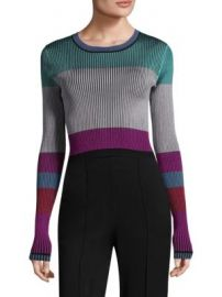 Diane von Furstenberg - Ribbed Colorblock Pullover at Saks Fifth Avenue